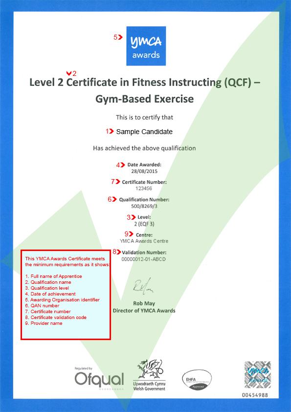 YMCA Awards Certificate   ACE - Website